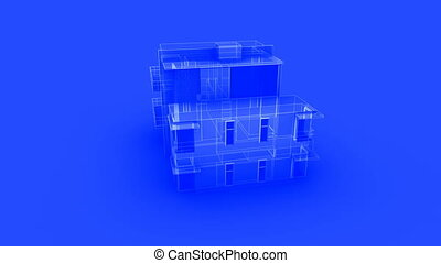 house blueprint - Blueprint of a modern house
