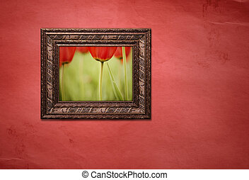 frame with picture - made from my photos and textures