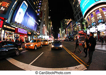 Times Square New York City - NEW YORK CITY - OCT 9: Times...