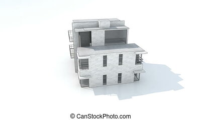 house draw - Drawing of a modern house