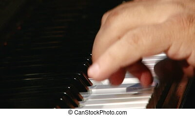 Piano, jazz, close up