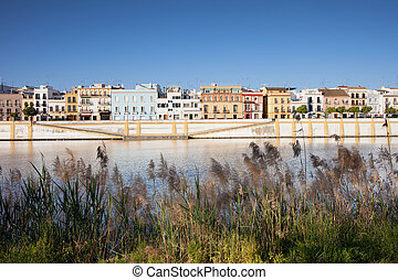 Seville by the River - Traditional apartment houses of...