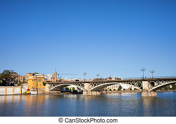 Triana Bridge in Seville - Triana Bridge Isabel II Bridge...