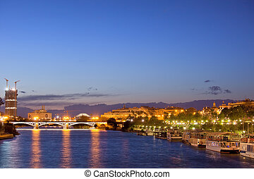 City of Seville at Evening