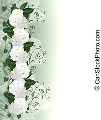 Wedding invitation Flowers Border