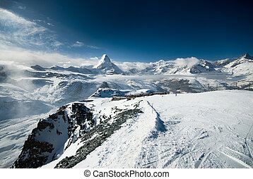 cloudy matterhorn - Cloudy Matterhorn. View taken from the...