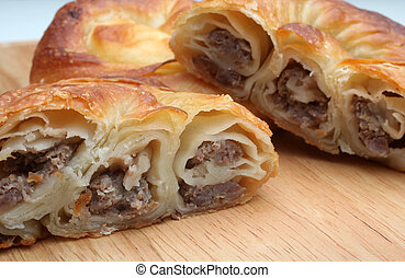 Burek (pie with meat, cheese or spinach) is traditional...