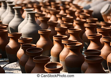 Traditional pottery craftsmanship - Hands of a potter...