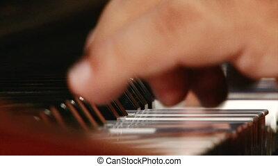 Piano, fast tempo