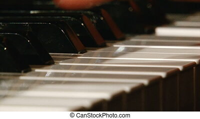 Piano, extreme close up