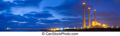 Panorama Of Power Plant - Panoramic shot of Power plant at...