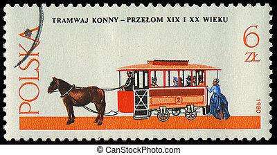 POLAND - CIRCA 1980: a stamp printed in Poland, show antique...