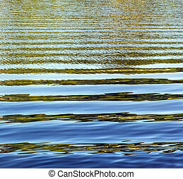 pattern of water with waves at the river
