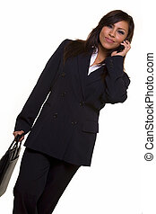 Spanish business woman - Attractive brunette Hispanic woman...