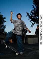 skateboard, equilibrar