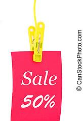 -50% discount sticker