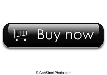 Buy now web button - Buy now black web button.