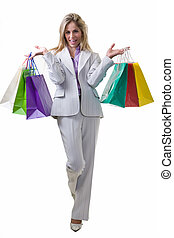 Professional shopper - Full body of an attractive blond...