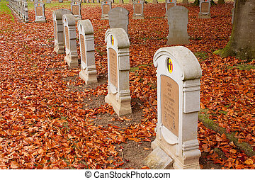 Belgian Military Cemetery Houthulst - Gravestones - The...