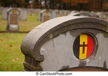 Belgian Military Cemetery Houthulst - Close Up - The Belgian...