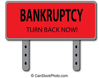 Bankruptcy Sign Concept