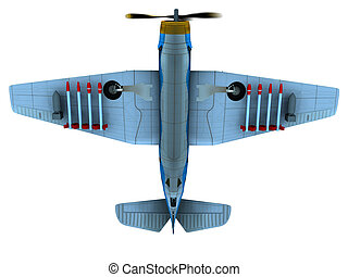 Torpedo bomber - Render of WW2 torpedo bomber Avenger bottom...
