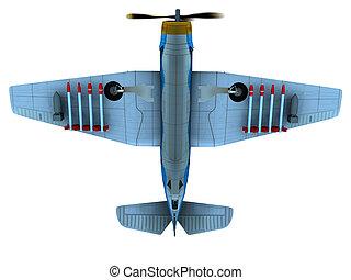 Torpedo bomber - Render of WW2 torpedo bomber Avenger bottom...
