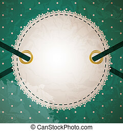 Greeting scrap retro background with empty photo blank. vector illustration