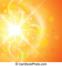 Abstract background - Abstract orange sunny background