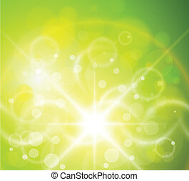 Natural background - Natural green, sunny background
