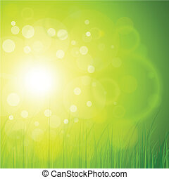 Natural background  - Natural green, sunny background.