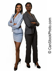 Business women - Full body of two African American business...