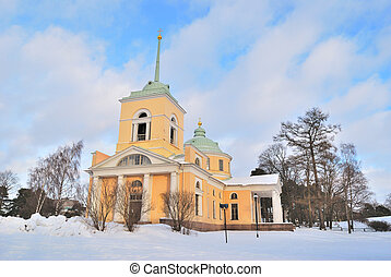 Kotka, Finland. St. Nicholas Orthodox Church - Kotka,...