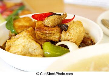 Tofu vegan food