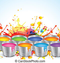 holi festival design - colorful splashes of festival holi