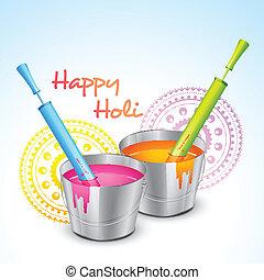 colorful holi festival - vector colorful holi festival...