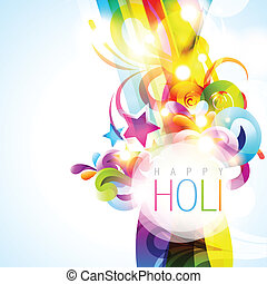vector colorful holi background - colorful holi festival...