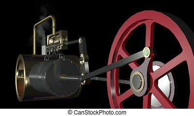Steam Engine Animation HDSteam Engi - Animation of a steam...