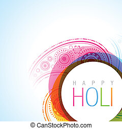 holi festival - vector holi festival background illustration