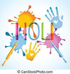 holi festival background - stylish colorful holi festival...