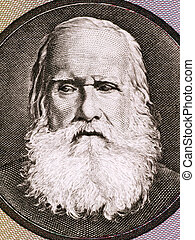 Pedro II of Brazil (1825-1891) on 10 Cruzeiros 1980 Banknote...
