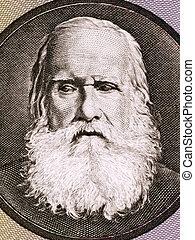Pedro II of Brazil (1825-1891) on 10 Cruzeiros 1980 Banknote...