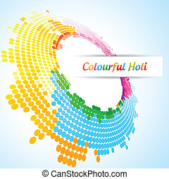 vector holi festival - vector colorful background of indian...