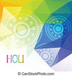 indian holi festival - beautiful colorful indian festival...