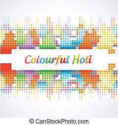 holi festival background - beautiful vector holi festival...