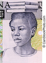 School Girl from Ghana - School Girl on 2 Cedis 1979...