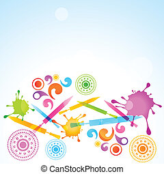 holi festival celebration - vector colorful background of...