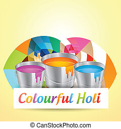 holi festival background - holi festival colors vector...