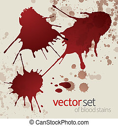 Splattered blood stains, set 1 - Splattered blood stains,...