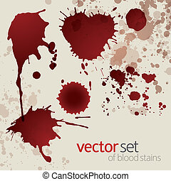 Splattered blood stains, set 5 - Splattered blood stains,...